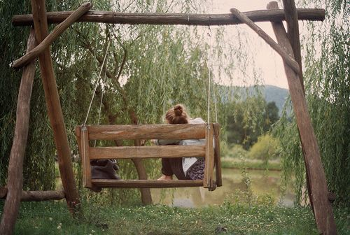 .The Roads, The Ponds, Favorite Places, Dreams, Outdoor, Gardens, Wooden Swings, Backyards, Country