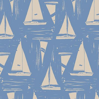 We love a nautical themes vintage print! - Vintage Print - Vintage Papers - Pretty Pattern - Nautical