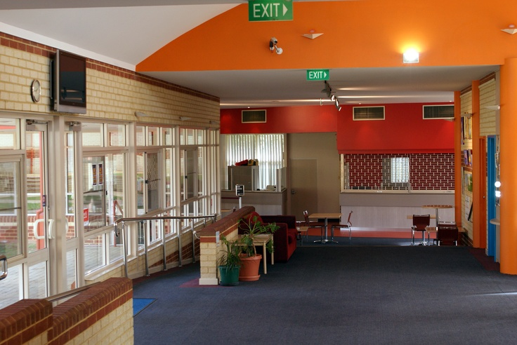 Inside the foyer/reception area.