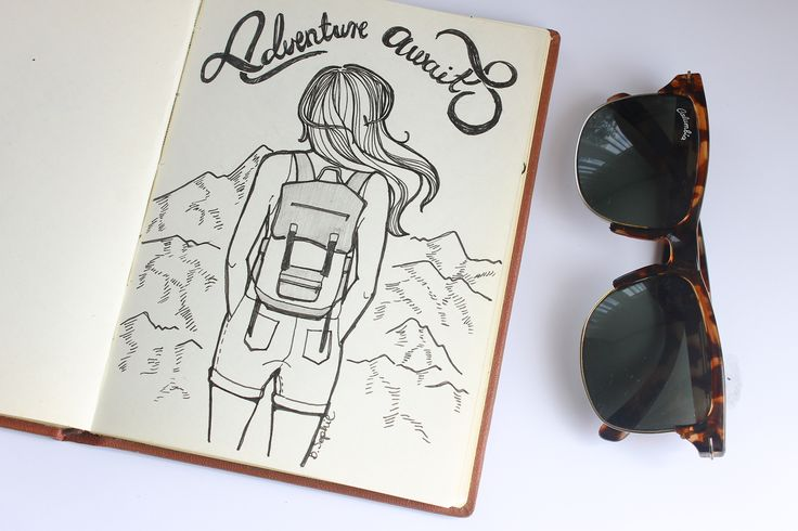 I drew this one day when i was really longing to see the mountains.. #illustration #sketchbook #drawing