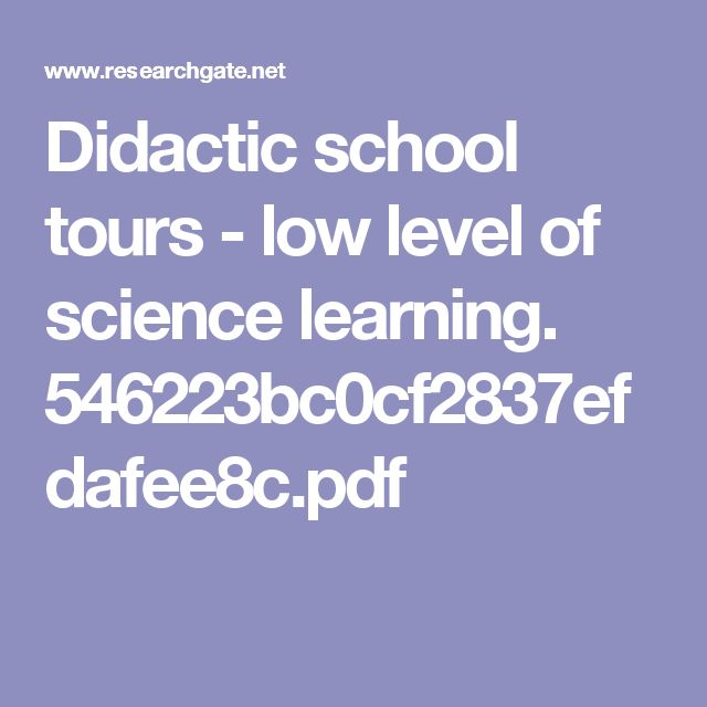 Didactic school tours - low level of science learning. 546223bc0cf2837efdafee8c.pdf