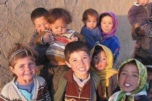 Beautiful people portrait of Hazara girls having dress of