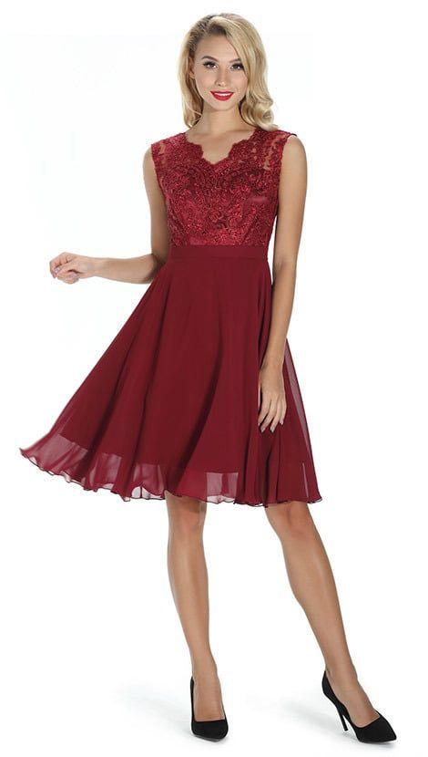 829321e1652841 Ook leuk!  Bordeaux rode korte galajurk 4271