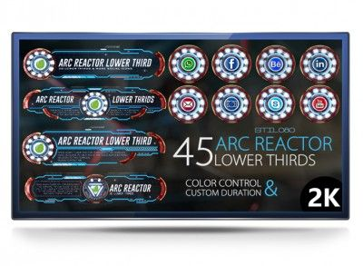45 Arc Reactor Lower Thirds - Project for After Effects