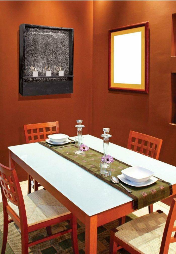 Choose Innendesign Paint Dark Orange Nuances Of Dining Room Design