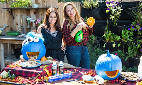 Home & Family - How-To - How to Preserve a Pumpkin & DIY Pumpkin Cookie Monster with Shirley Bovshow & Tanya Memme | Home & Family