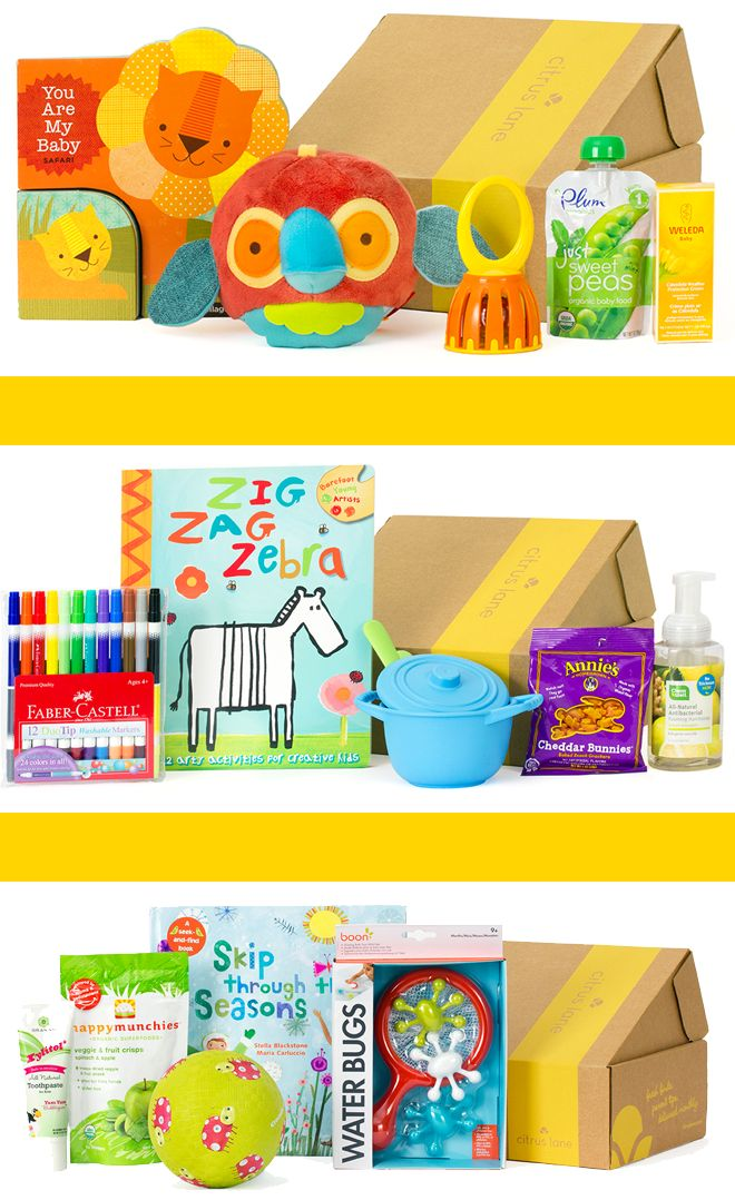 Monthly box of products for your little one