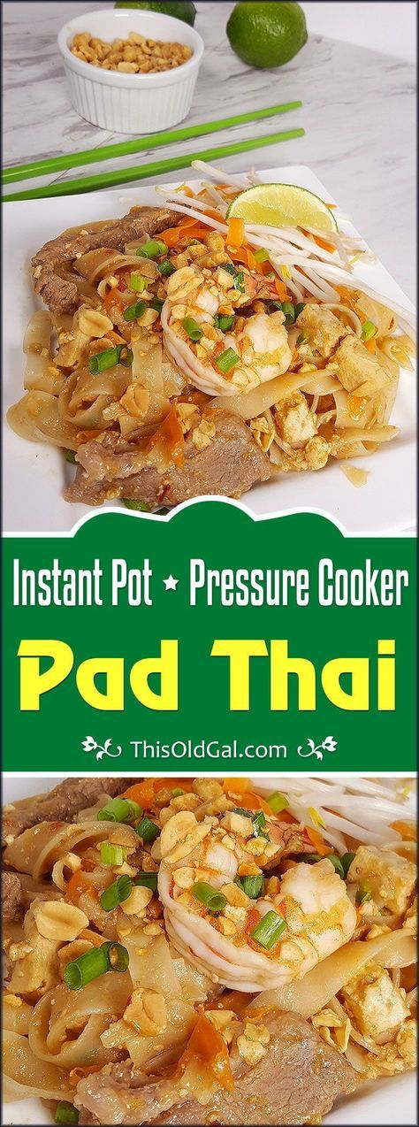 Instant Pot Chicken & Pork Pad Thai Image
