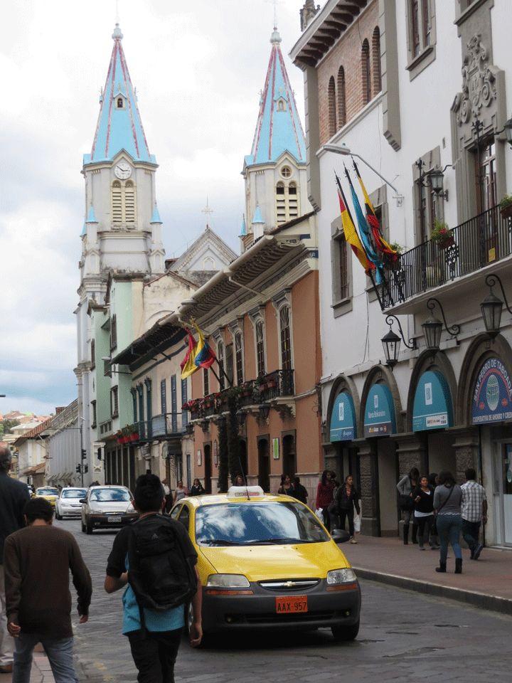 Street in Cuenca Ecuador.  #cuenca #ecuador