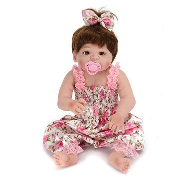 <b>22inch</b> Reborn Baby Doll Silicone Handmade Lifelike Girl Play ...