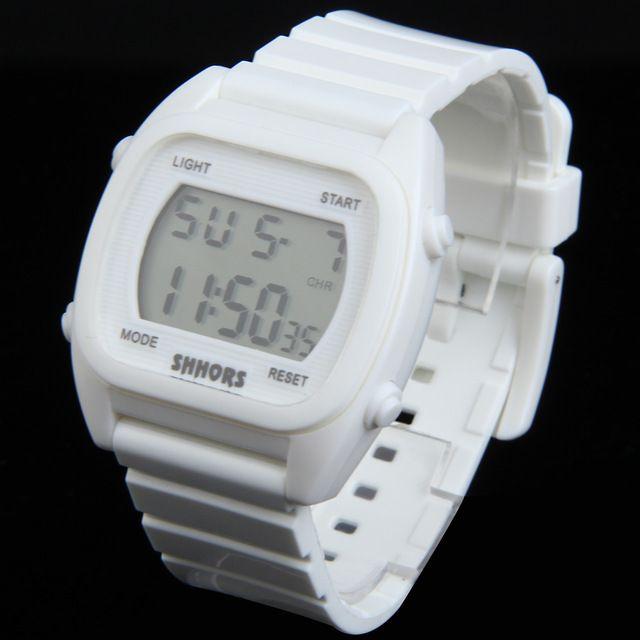 Мода спортивные женщины часы Цифровой Леди Наручные Часы Резиновый Ремешок Для Часов Многоцветный 88 ~ M24 купить на AliExpress