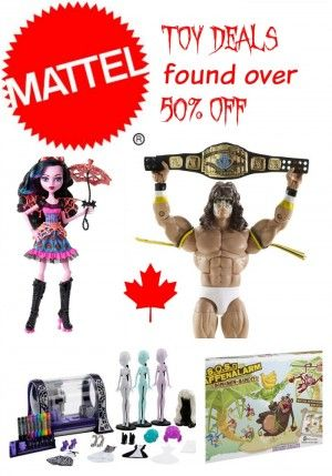 Page updated weekly! Find Brand name: Mattel Toys on sale for as much as half price (1/2) 50% off or more. Great Savings on your pocket books #mattel  #toys, Canada