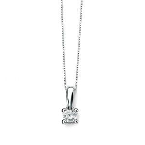 0.25ct White Gold Solitaire Diamond Pendant 9ct With Chain from the Rocio Illumini range