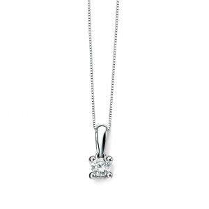 0.25ct White Gold Solitaire Diamond Pendant 9ct With Chain from the Rocio Illumini range