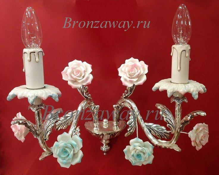 Люстра КАМЕЛИЯ 8  люстра, с цветами, светильники, бронзовая, флористика, для спален, в гостиную, в зал, в дом, купить, с керамикой, красивые, редкие,…