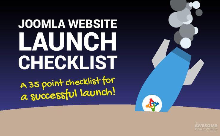 The 35 point Joomla Website Launch List