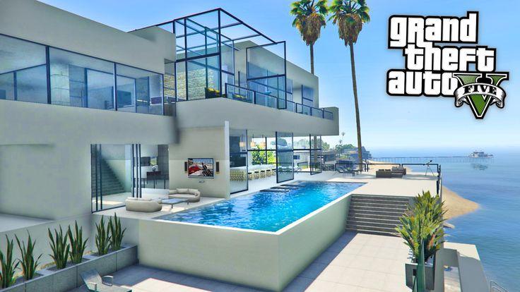 GTA 5 Mods - BILLIONAIRES MANSIONS MOD TOUR!! GTA 5 Mansions Mod Gamepla...