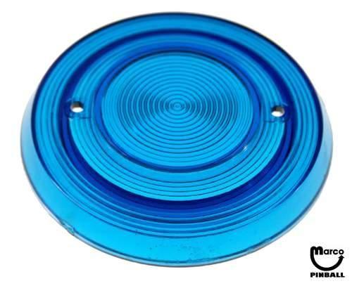 Pop Bumper cap - blue trans. grooved - GPBC-10 - Marco Pinball Parts