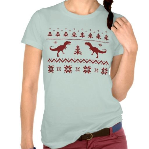 Ugly T-Rex Dinosaur Christmas Sweater Shirts