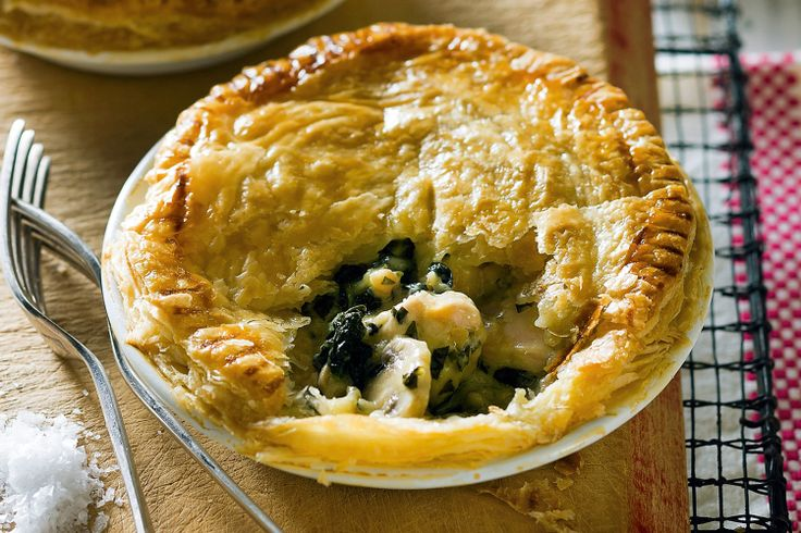 This high-fibre hearty chicken pie is a great rainy-day recipe.