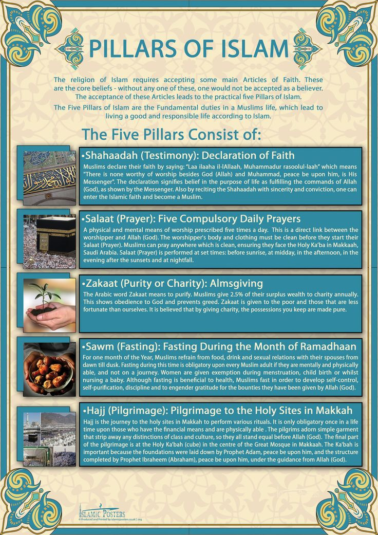 9 best images about Islam: Pillars on Pinterest | Posters ...