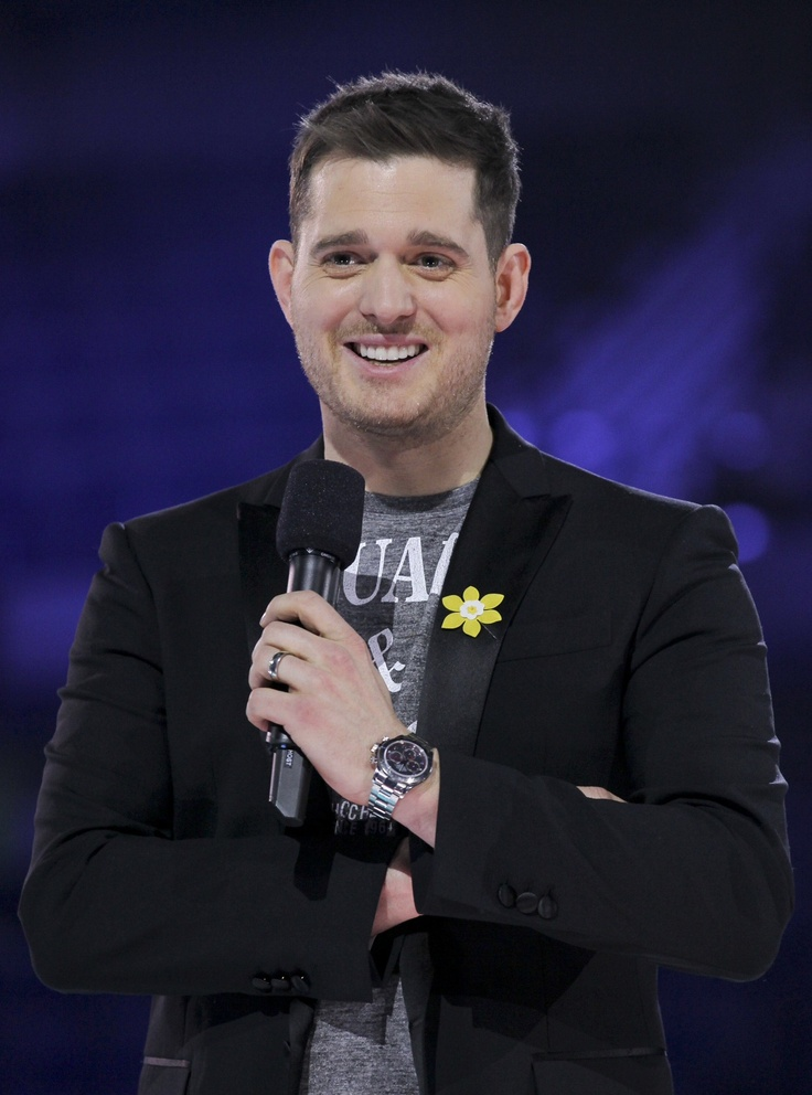 Michael Buble wearing the pin for Juno Awards celebration. #mydaffodil #daffodil #cancer