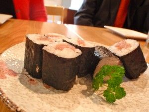 Excellent sushi at Kanpai on Grindley Street