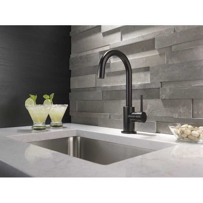 Trinsic Kitchen Faucet With Images Black Kitchen Faucets Bar
