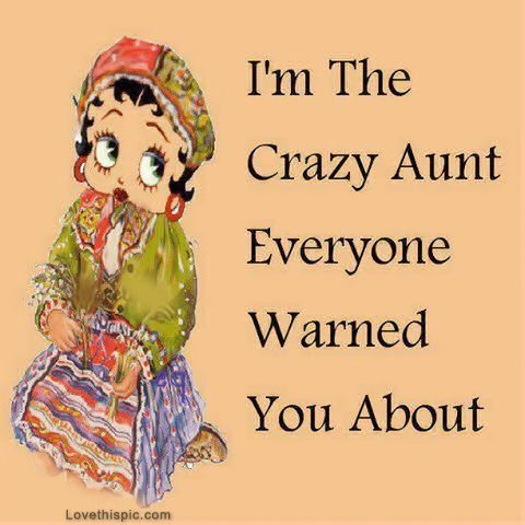 """I'm that crazy aunt everyone warned you about.""- family cute quote cartoons Betty Boop quotes"