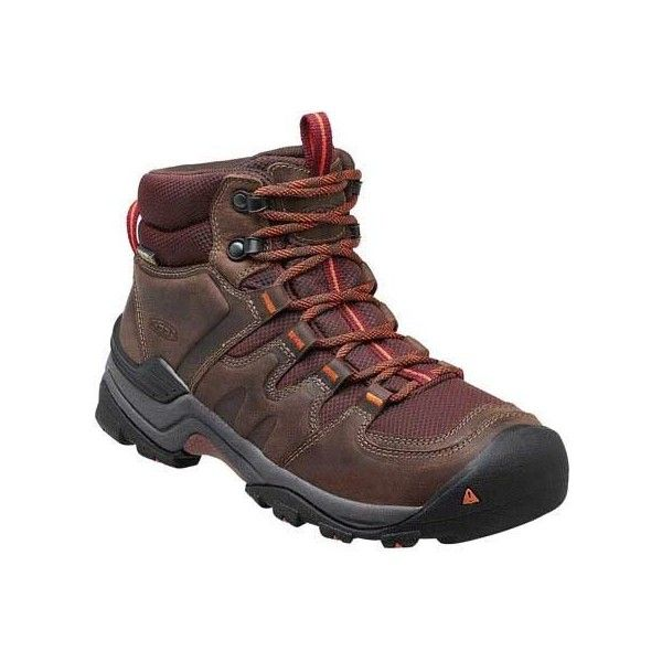 Women's Keen Gypsum II Mid Waterproof Hiking Boot - Cocoa/Tiger Lily... (9.800 RUB) ❤ liked on Polyvore featuring shoes, casual, waterproof boots, keen footwear, light weight hiking boots, lightweight hiking boots, structure shoes and waterproof shoes