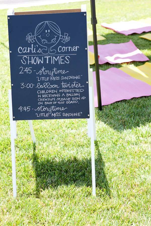 Fun activities at a Little Miss Sunshine birthday party! See more party planning ideas at CatchMyParty.com!