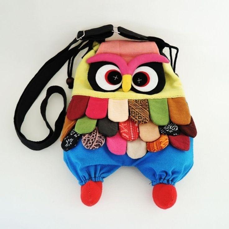 Crossbody Bags Women Patchwork Handbags Handmade Owl Purses Hippie Colorful M #Unbranded #ShoulderBag