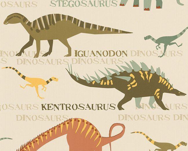 """Бумажные обои, живые стены, """"обои шаблон Мальчики & Girls 4"""" Динозавр """""""""""