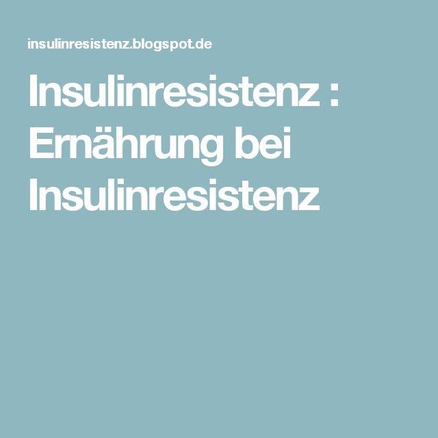 Insulinresistenz : Ernährung bei Insulinresistenz
