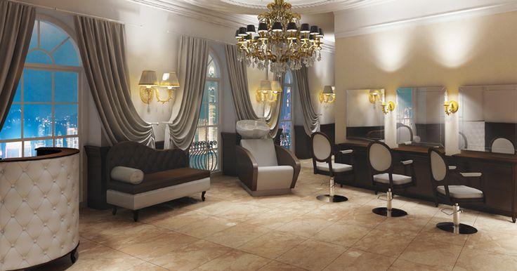 Salon collection Royal  by Ayala salon furniture. Hairdresser salon idea classic style. #Salonideas