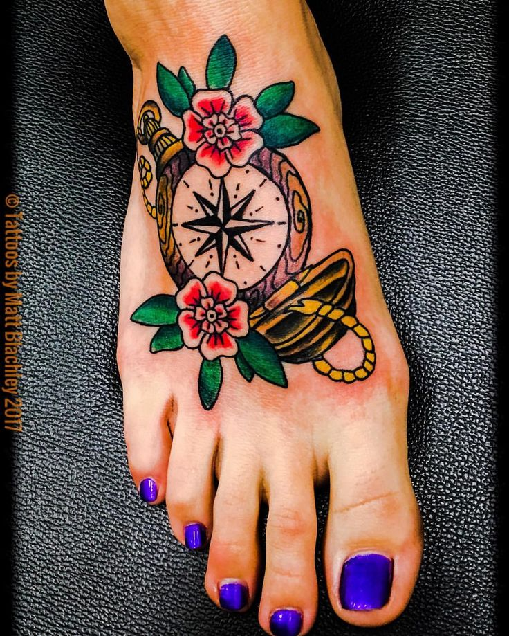 25 best ideas about traditional compass tattoo on for Tattoos on old skin