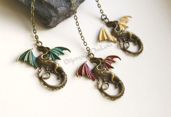 For the Khaleesi of your group: Viserion, Rhaegal, or Drogon necklace.