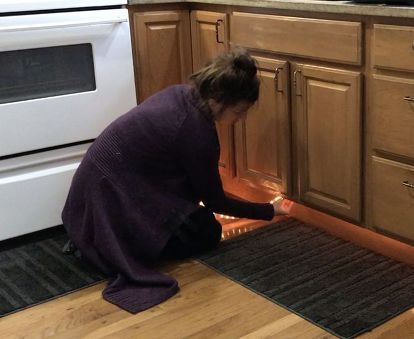 heres an easy way to light up your kitchen at nightand it only takes 30 minutes under cabinet. Interior Design Ideas. Home Design Ideas