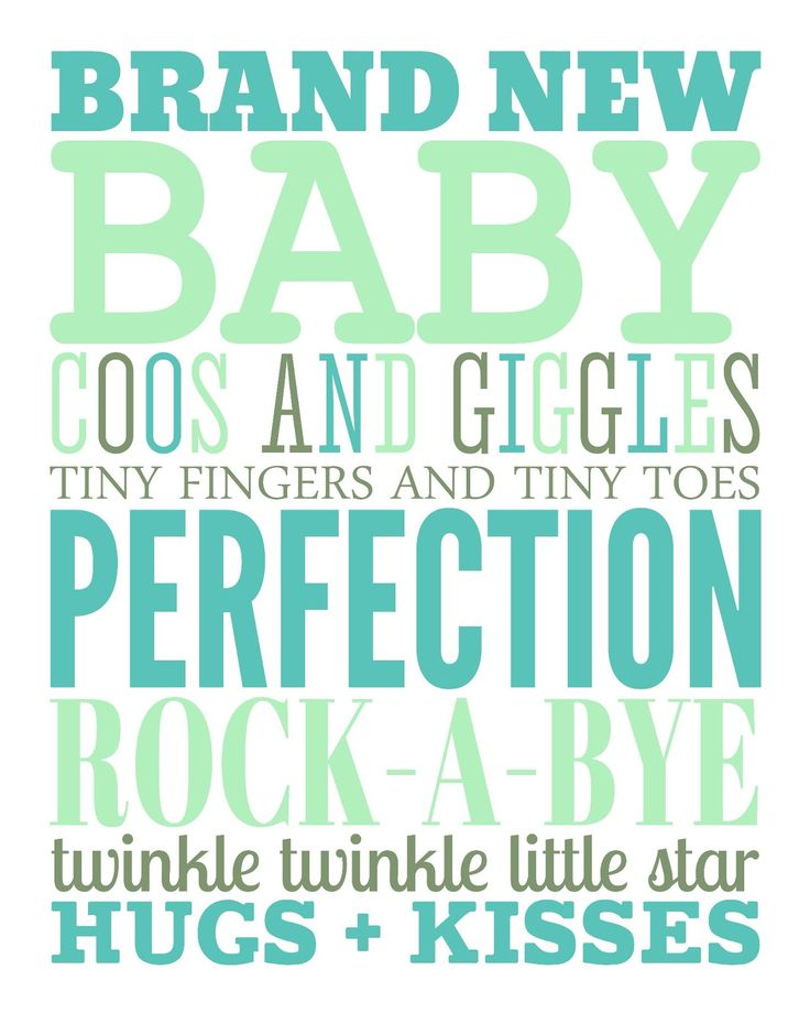 baby printable (multiple color choices)