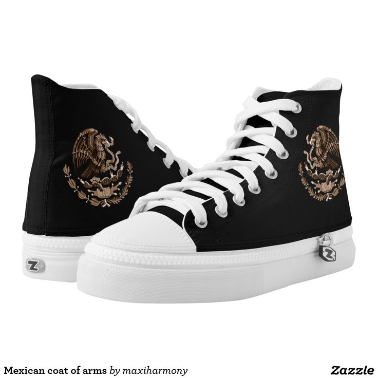 Mexican coat of arms printed shoes