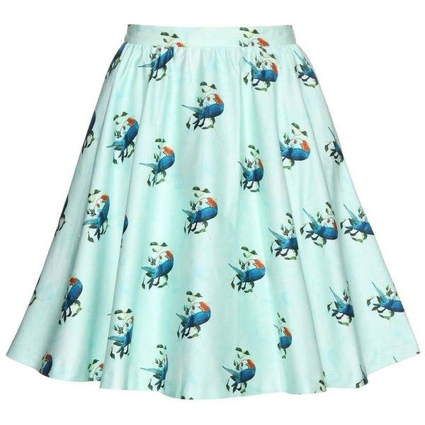 Alice + Olivia Earla Printed Cotton Skirt (470 CAD) ❤ liked on Polyvore featuring skirts, green, alice olivia skirt, green cotton skirt, cotton skirts and green skirt
