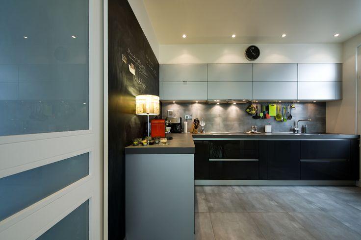 Chambre Pour Garcon Conforama : Modèle sigma laqué gris acier mat et ardoise brillante, avec des