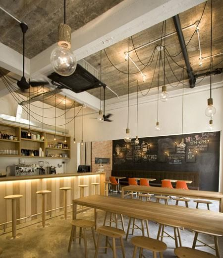 lots of cute ideas in here | Restaurant Visit: Hatched in Singapore : Remodelista