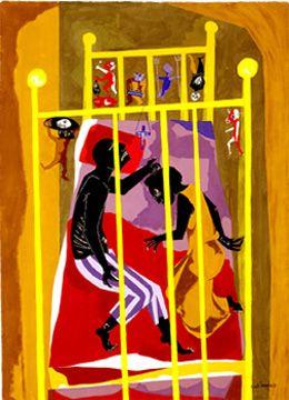 jacob lawrence | Jacob Lawrence, Dreams #1 , 1965.
