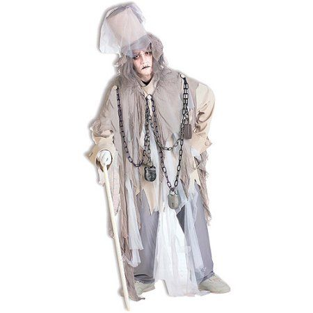 Jacob Marley Adult Halloween Costume, Men's, White