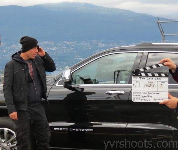 Hugh Dillon (Vincent)~on the set of Vancouver Indie film The Last Crop (Black Harvest, IMBD)