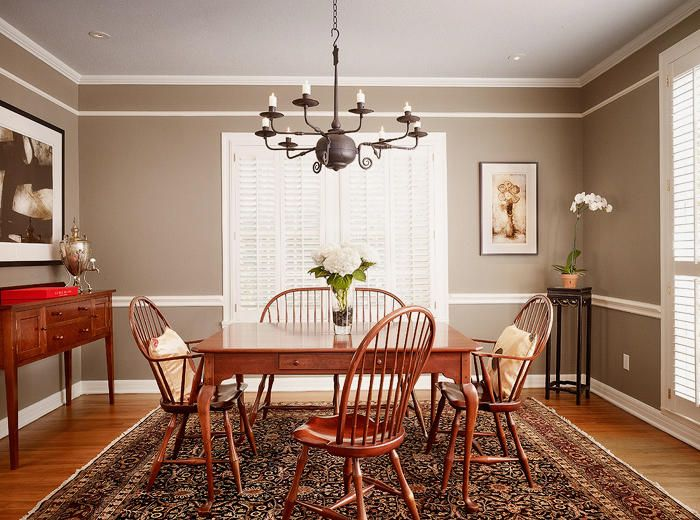 Ideas For Painting Dining Room Part - 23: Luxurious Grey Dining Room Paint Colors For Wall