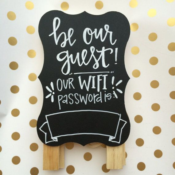 Guest Room WiFi sign Bedroom decor by CalligraphyNerd on Etsy