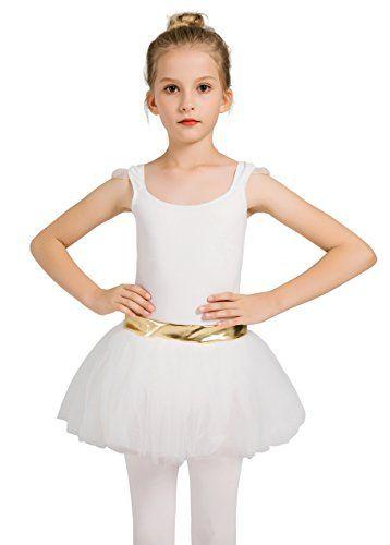 7a6b5ff0a DANSHOW Girls Tank Skirt Leotards for Ballet Dance with Tutu