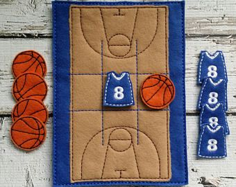 Baloncesto Juego de Tic Tac Toe * Tic Tac Toe * regalo de cumpleaños * fiesta Favor